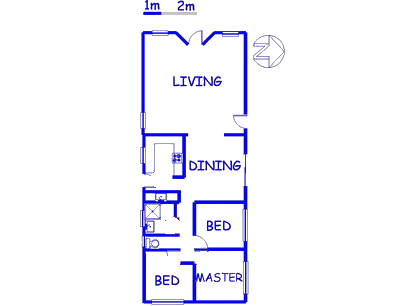 Floor plan of the property in Pretoria West