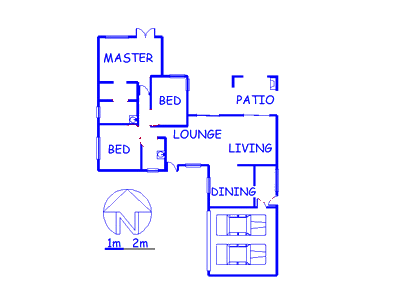 Floor plan of the property in Modderfontein