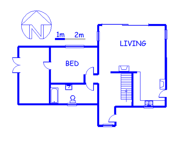 Floor plan of the property in Kosmos
