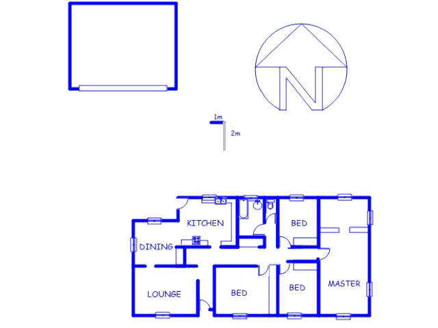 Floor plan of the property in Deneysville