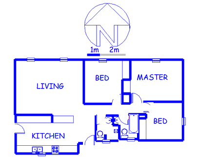 Floor plan of the property in Roseacre