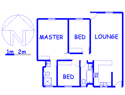 Floor plan of the property in Klipriviersberg