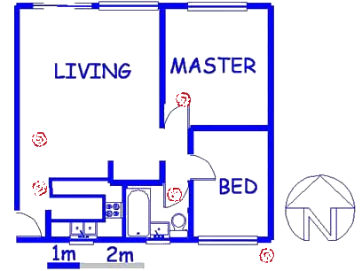 Floor plan of the property in Lyttelton