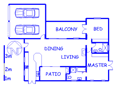 Floor plan of the property in Hermanus