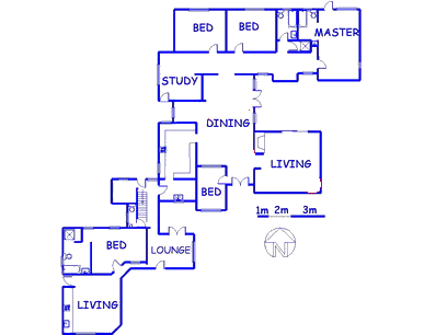 Floor plan of the property in Baviaanspoort