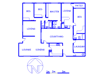 Floor plan of the property in Rietondale