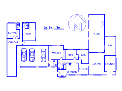 Floor plan of the property in Wingate Park