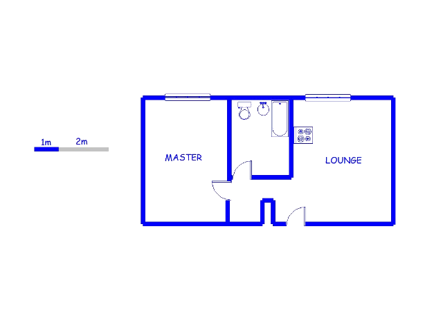 Floor plan of the property in Johannesburg Central