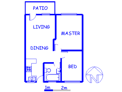 Floor plan of the property in Mountain View