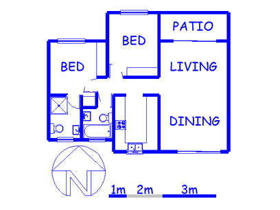 Floor plan of the property in Noordwyk