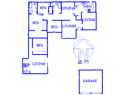 Floor plan of the property in Roodekrans