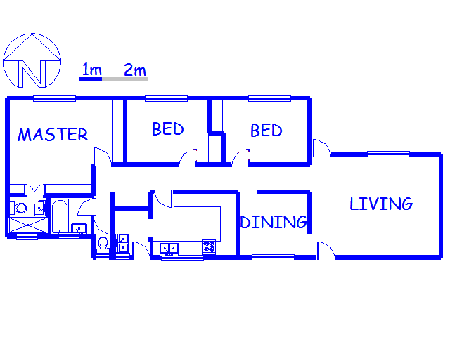 Floor plan of the property in Claudius