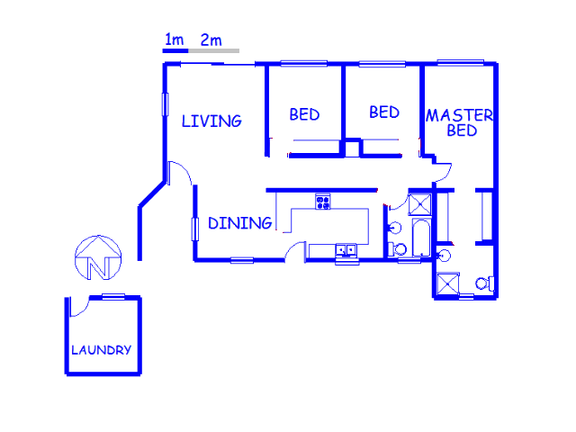Floor plan of the property in Simon's Town