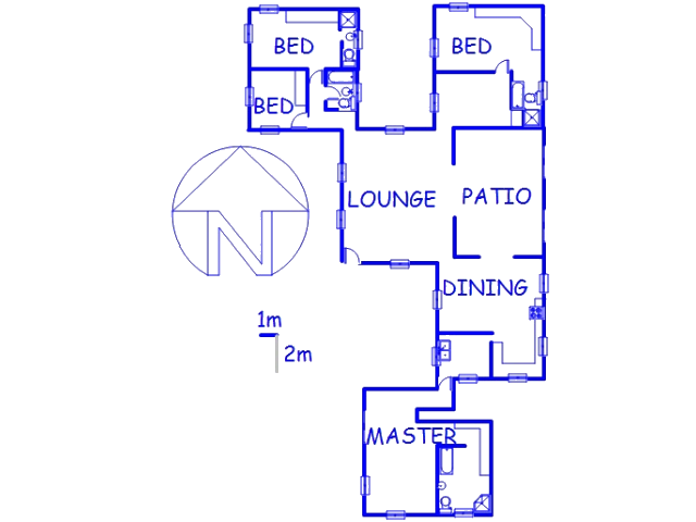 Floor plan of the property in Bains Vlei