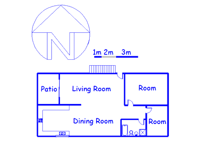 Floor plan of the property in Tzaneen