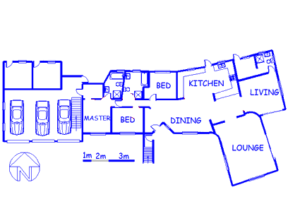 Floor plan of the property in Glen Austin A.H.