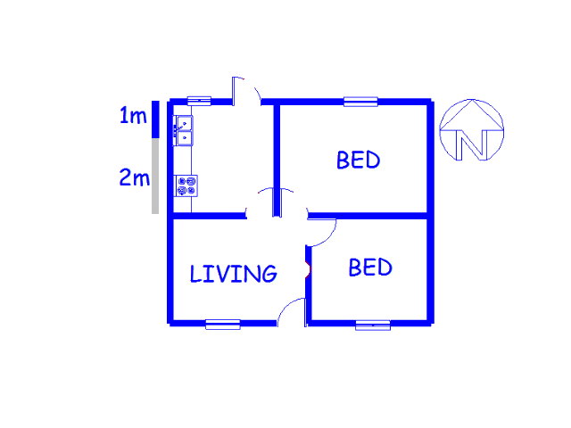 Floor plan of the property in Scottsdene