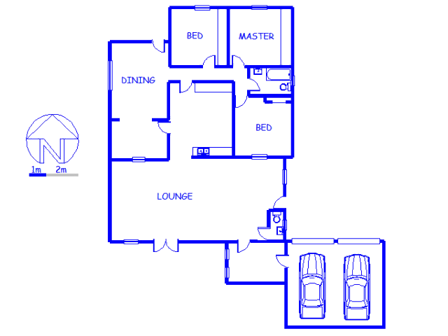 Floor plan of the property in Clanwilliam