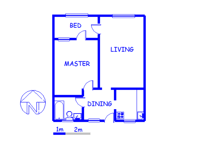 Floor plan of the property in Arcadia