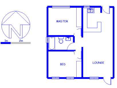 Floor plan of the property in Humansdorp