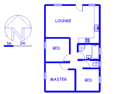 Floor plan of the property in Pelikan Park