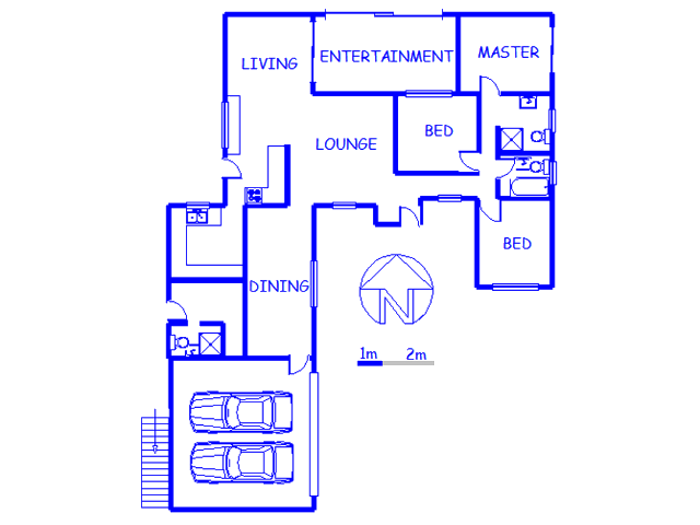 Floor plan of the property in Theresapark