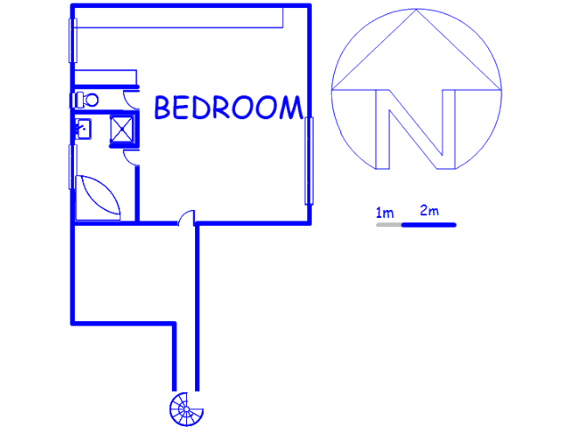 Floor plan of the property in Sonnedal A.H.