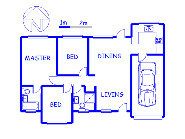 Floor plan of the property in Winternest