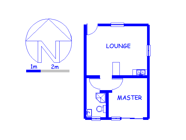 Floor plan of the property in Goodwood Estate