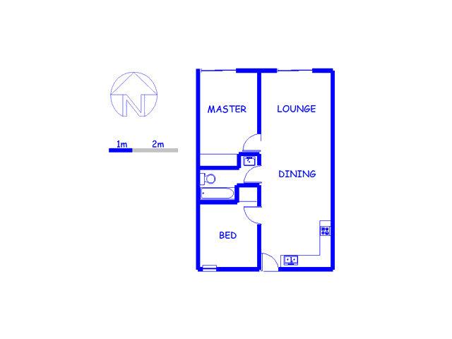 Floor plan of the property in Wynberg - CPT