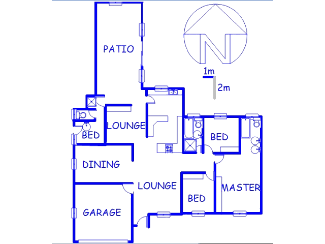 Floor plan of the property in Riebeeckstad