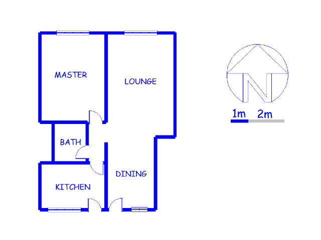 Floor plan of the property in Luipaardsvlei