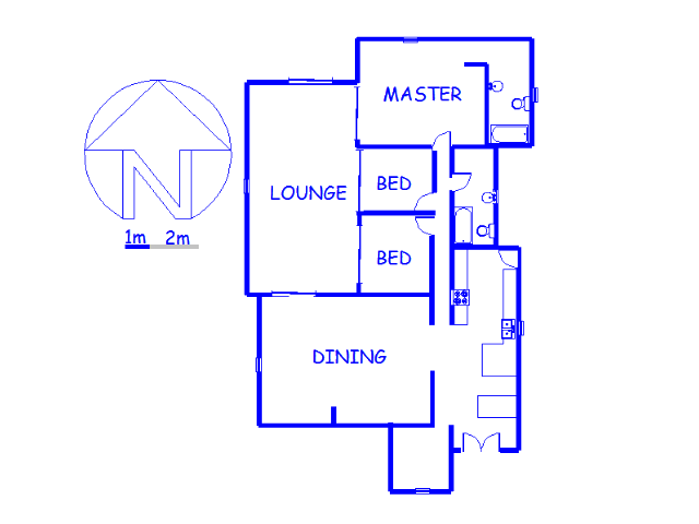 Floor plan of the property in Robertsham