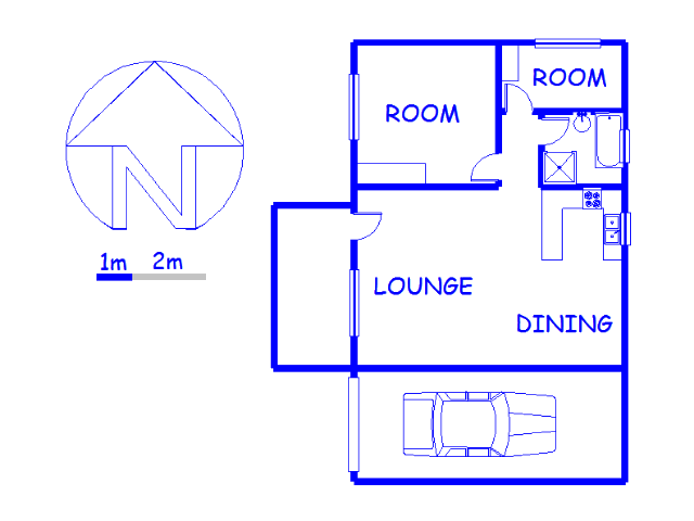 Floor plan of the property in Pietermaritzburg (KZN)