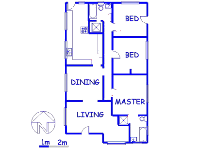 Floor plan of the property in Les Marais