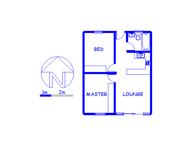 Floor plan of the property in Pinelands