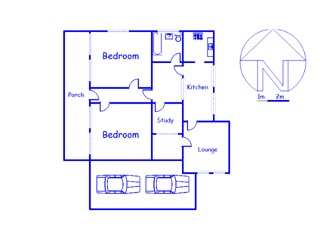Floor plan of the property in Lydenburg
