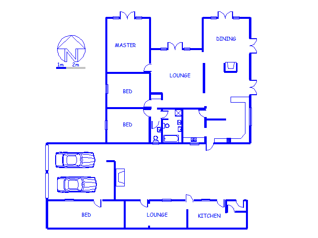 Floor plan of the property in George South