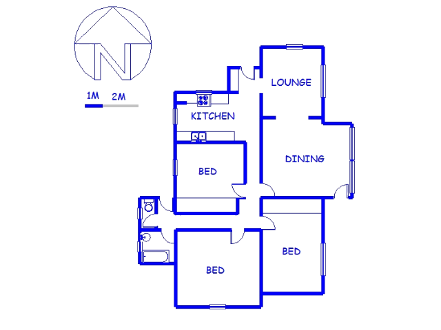 Floor plan of the property in Algoa Park