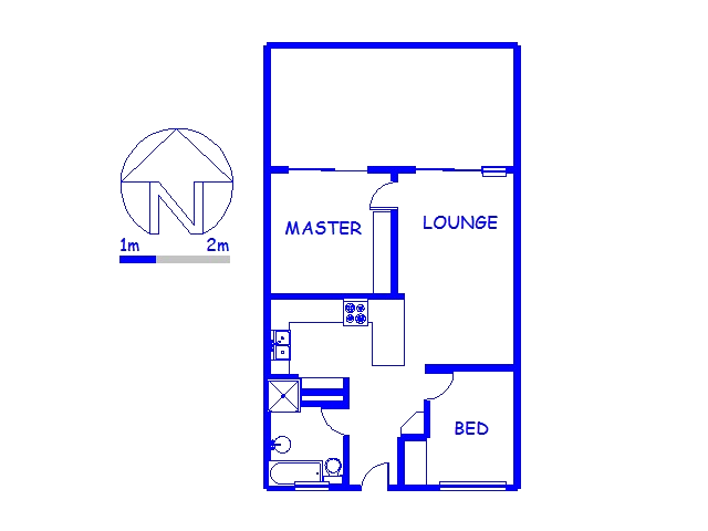 Floor plan of the property in Winklespruit
