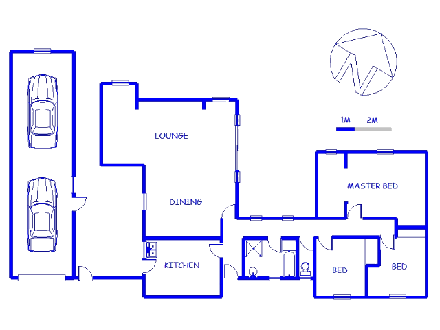 Floor plan of the property in Parsons Vlei