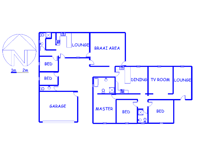 Floor plan of the property in Fishers Hill