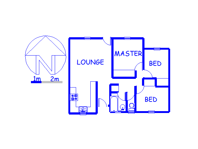 Floor plan of the property in Lyndhurst