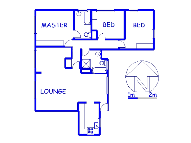 Floor plan of the property in Springfield - DBN
