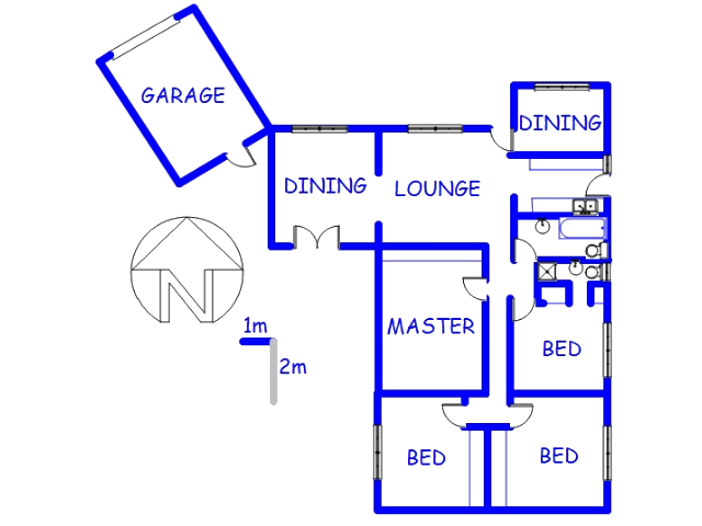 Floor plan of the property in Mitchells Plain