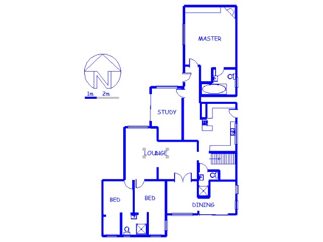 Floor plan of the property in Heathfield