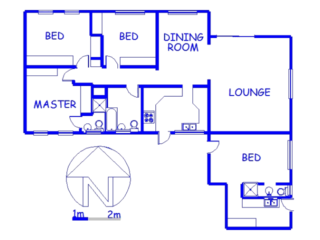 Floor plan of the property in Northdene
