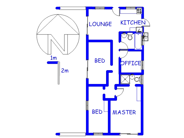 Floor plan of the property in Bayview - CT