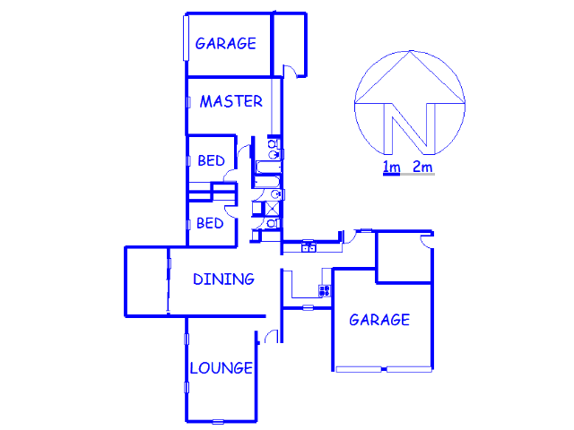 Floor plan of the property in Klopperpark
