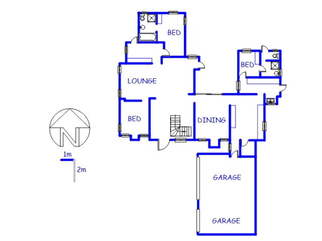 Floor plan of the property in Copperleaf Golf and Country Estate
